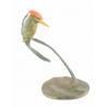 Martin-pêcheur sur une branche en bronze