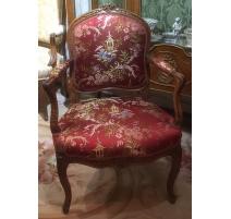 Louis XV cabrioler armchair, c