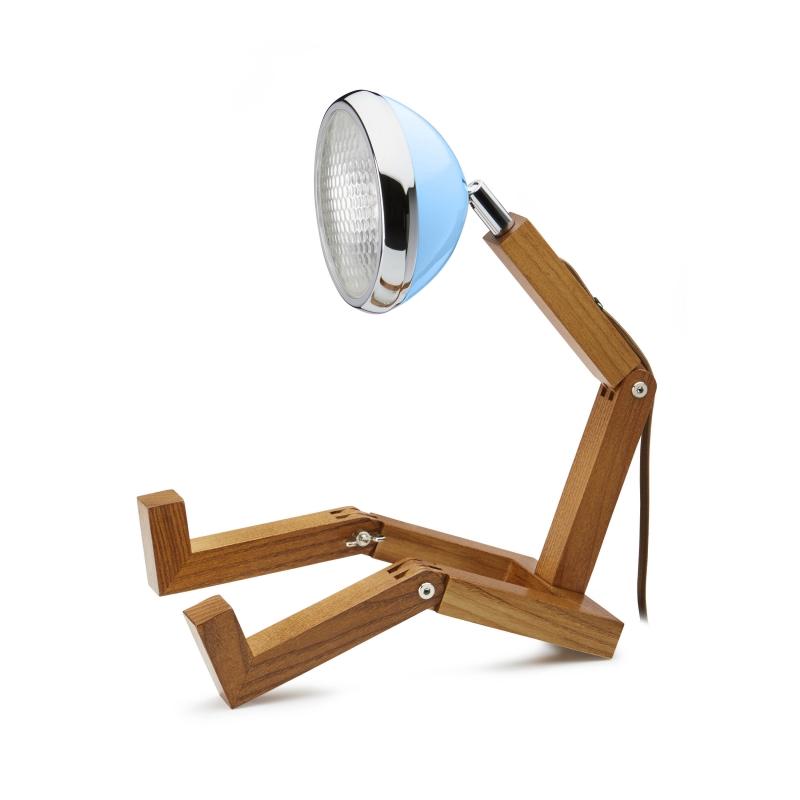 Lampe Mr. Watson Bleu Havane   Moinat SA   Antiquités décoration