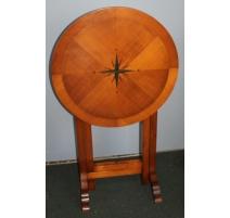 Table ronde avec plateau rabattable