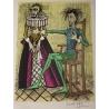 """Lithographie """"Don Quichotte"""" signée Bernard BUFFET"""