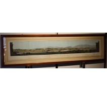 """Lithographie panoramique """"Genève et environs"""""""