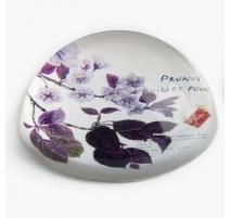 """Presse-papier en verre """"Prunier en fleurs"""""""