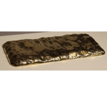 Socle rectangulaire en laiton texturé