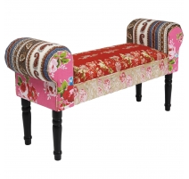 Banquette Wing Patchwork rouge