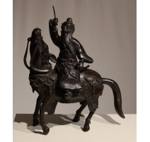 "Bronze ""Toba on his mule"""