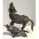 "Bronze ""Toba sur sa mule""."
