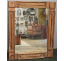 Miroir rectangulaire en vieux bois