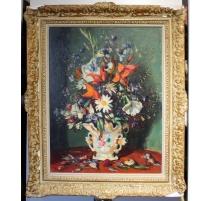 """Tableau """"Bouquet de fleurs"""" signé G. DAREL"""