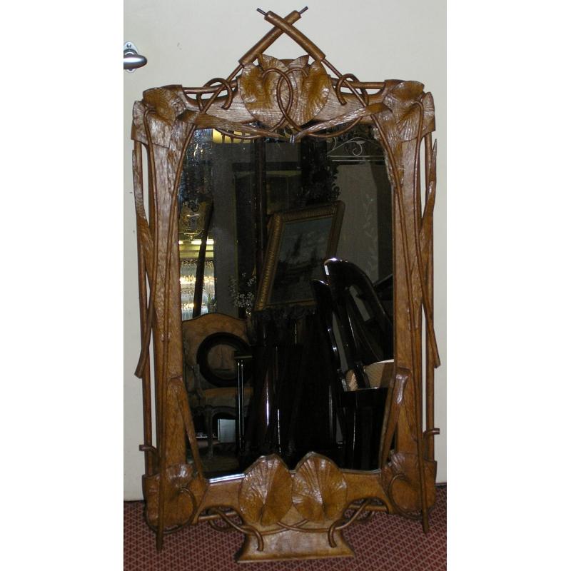 miroir sculpt art nouveau sur moinat sa antiquit s d coration. Black Bedroom Furniture Sets. Home Design Ideas