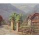 """Tableau """"Alpes Bernoises"""" signé P. BONO"""