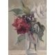 "Tableau ""Roses"" monogrammé LS"