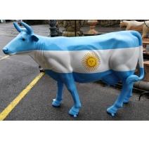 """Vache taille nature """"Drapeau Argentin"""""""
