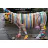 Vache taille nature décor peint à la main