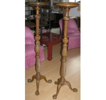 Pair of Chippendale torcheres.