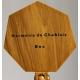 Service en bois tourné, chane et 6 goblets