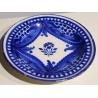 Assiette en céramique décor bleu blanc