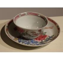 Tasse en porcelaine chinoise couple d'oiseaux