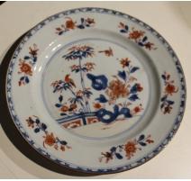 Assiette en porcelaine décor bambou
