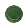 Sous-Assiette en faïence verte chasse 32.5 cm