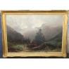 """Tableau """"Paysage de montagne"""" signé Gustave CASTAN"""