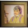 """Pastel """"Jeune femme marocaine"""" signé René MARTIN"""
