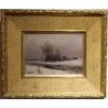 """Tableau """"Paysage d'hiver"""" signé C. HAAS"""
