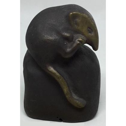 Musaraigne Musette en bronze d'après HAINARD