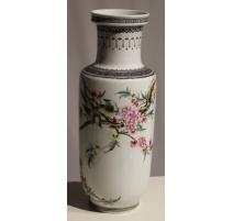 Vase en porcelaine décor oiseaux