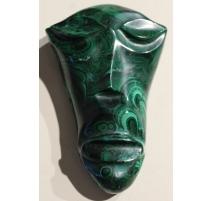 Masque africain allongé en malachite