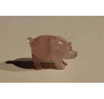 Cochon en pierre rose