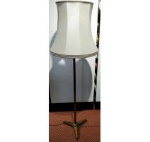 Lampe sur pied tripode en laiton