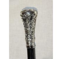 Canne-épée avec pommeau Cipher argenté