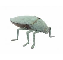 Scarabée en bronze patine verte, formant boite