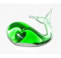 Baleine en verre vert