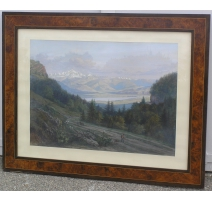 "Gouache ""View of the Col de la"