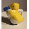 Pichet Canard jaune bleu signé SANDOZ