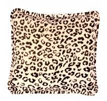 Coussin léopard carré