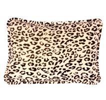 Coussin léopard rectangulaire