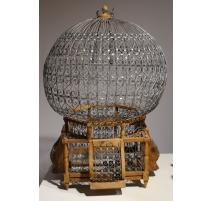 Cage à oiseau Boule en fer et bois