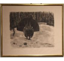 """Gravure """"Grand Coq"""" signée Robert HAINARD"""