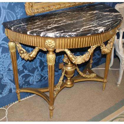 Console Louis XVI demi lune par FUNK