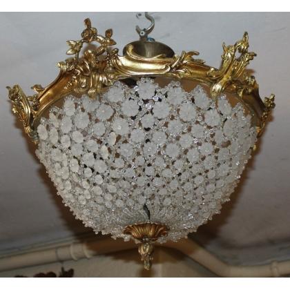 Plafonnier style Louis XV en bronze doré
