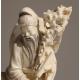 """Okimono en ivoire """"Homme enfant et oie"""""""