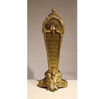 Pare feu éventail Napoléon III en bronze