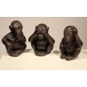 Lot de 3 singes sage en bronze