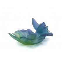 Coupelle papillon en verre signé DAUM France