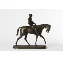 """Bronze """"Jockey vainqueur du Derby"""" signé MÈNE"""