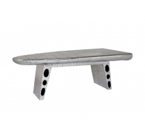 "Table basse ""Aile d'avion"" en alu"