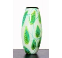 Vase en fuseau Fougère de style Murano